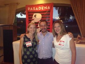Lara y José quienes también corren Pasadena Pacers. Lara también se está preparando para su primera MM en  San Francisco.