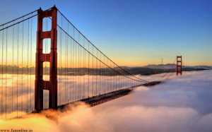 Golden gate en una mañana nublada!