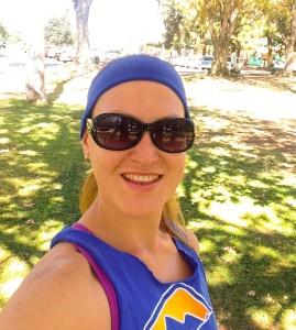 Esta fue el domingo justo antes de empezar a correr con 30*C de temperatura! Esto de correr en el verano tiene sus días infernales.