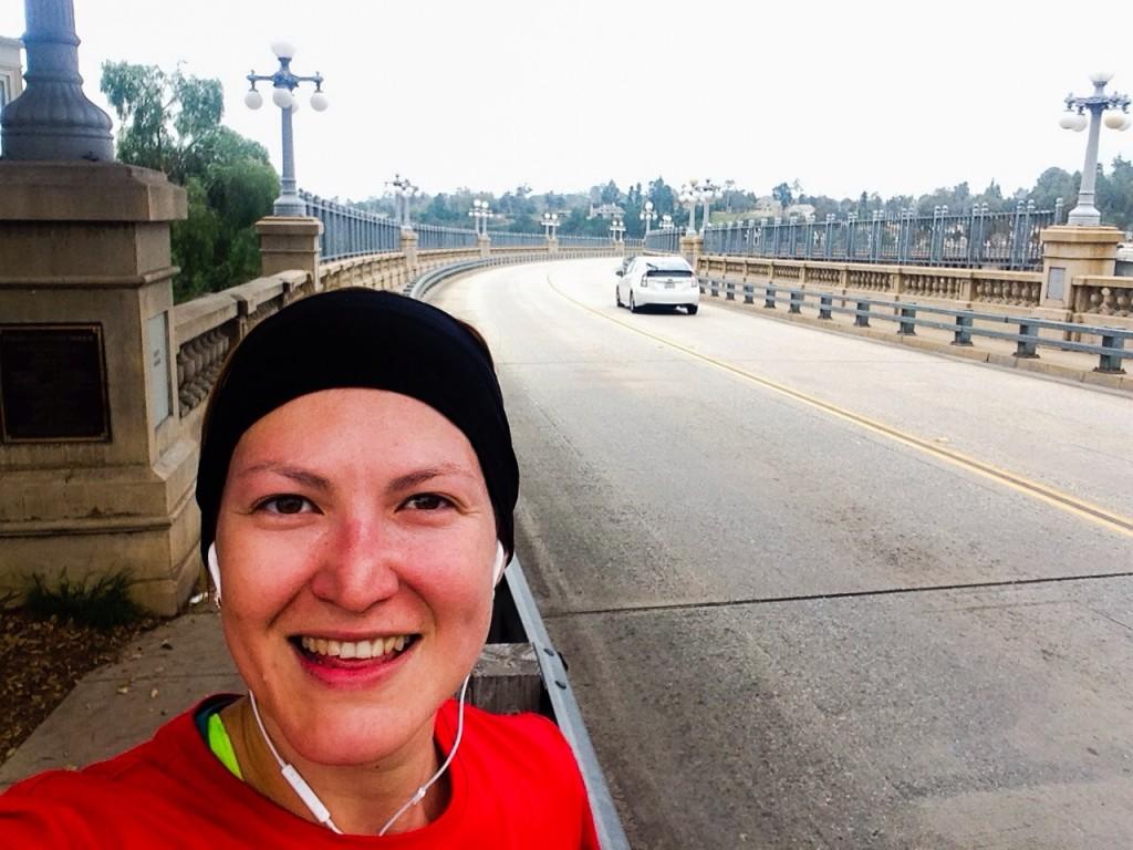 Corriendo con los Pacers en el hermoso Puente Colorado de Pasadena!