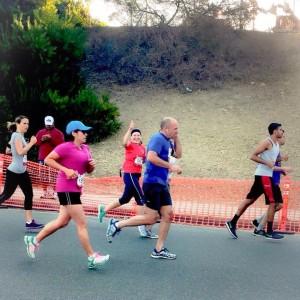 Foto Cortesía de una de las chicas de Pasadena Pacers que fueron a animarnos en la carrera. ¡Gracias, Mónica!