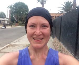 El domingo cuando terminé de correr las 14 millas :) Me hizo el clima perfecto!