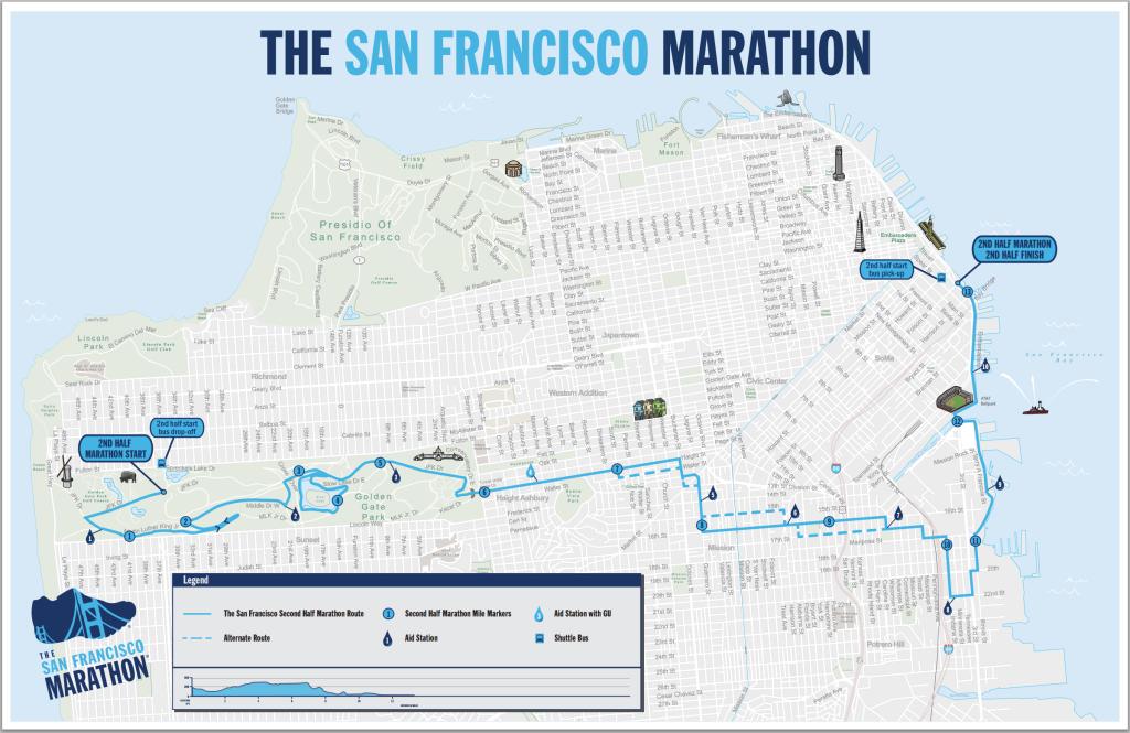 San Francisco Second Half Marathon Map
