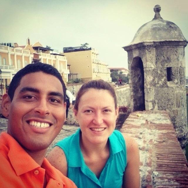 El lunes festivo con Quique en Cartagena. No se si recuerden que él hizo su primera media maratón el año pasado en Los Ángeles (cuando yo corrí disfrazada del Pibe). Es uno de mis mejores amigos del colegio, tenemos más de 15 años de conocernos. <3