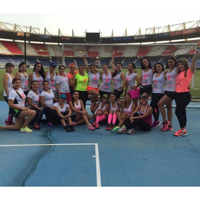 Entrenamiento de pista en el Estadio Metropolitano de Barranquilla