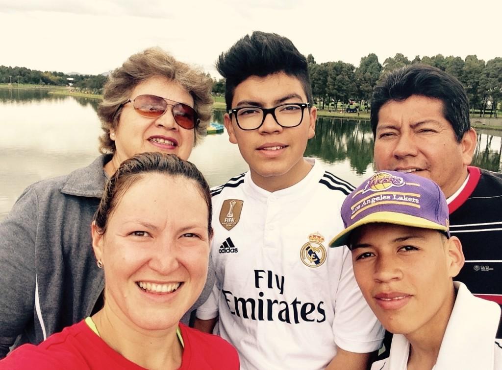 Me llevé a toda mi familia para el parque.