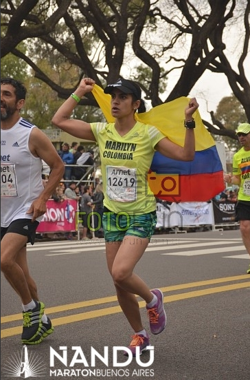 Llegada a la meta de la Maratón de Buenos Aires