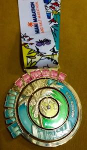 Miami Marathon Medal. www.navegueruns.com
