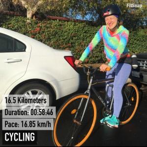 La bici que tenemos es una commuter bike, pa' ir y volver del trabajo. Este fue un rodaje de entrenamiento cruzado que hice en diciembre.