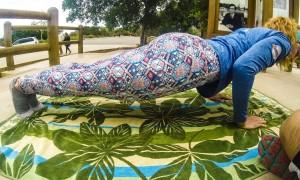 Esta postura antes de hacer el reto del plank era imposible. El domingo me salió de manera natural, fue increíble.