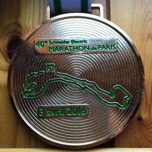 Paris Marathon Medal 2016