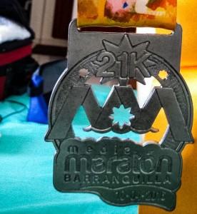 Medalla Media MAratón de Barranquilla