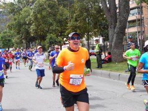 Su primera Media Maratón de Bogotá ya vistiendo la camiseta naranja de los 21k y Gatorade Colombia