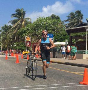 En el triatlón Olímpico en San Andrés