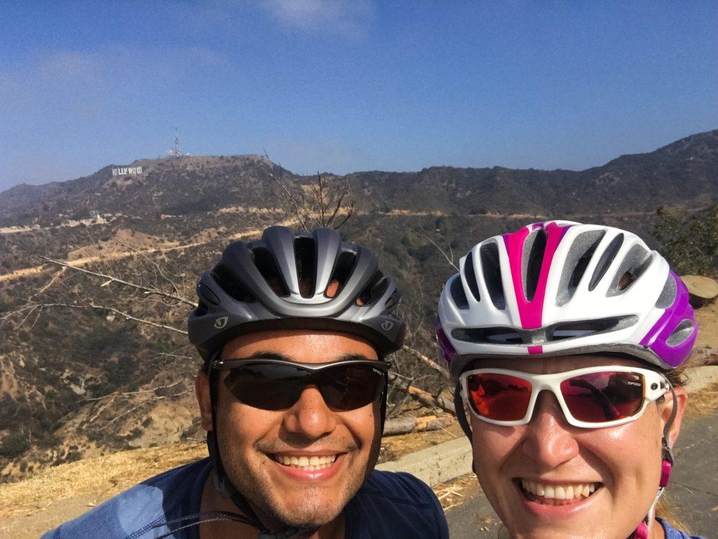 El domingo subimos las montañas del Griffith Park en la bici. Yo las subo corriendo a cada rato, pensé que eran imposibles en la bici y ya vi que no! ¡Todo es posible!